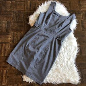 Maurices 13/14 Gray Sleeveless Sheath Dress Career